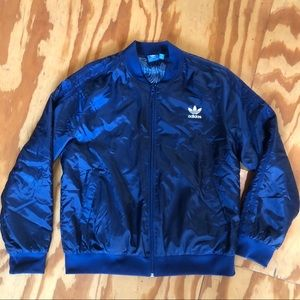 Adidas navy bomber jacket